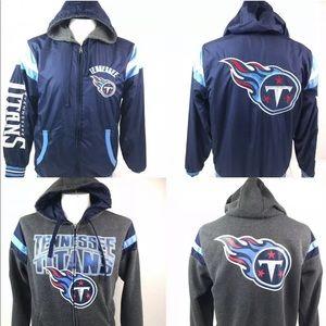 Tennessee Titans Reversible Full Zip Hood Jacket